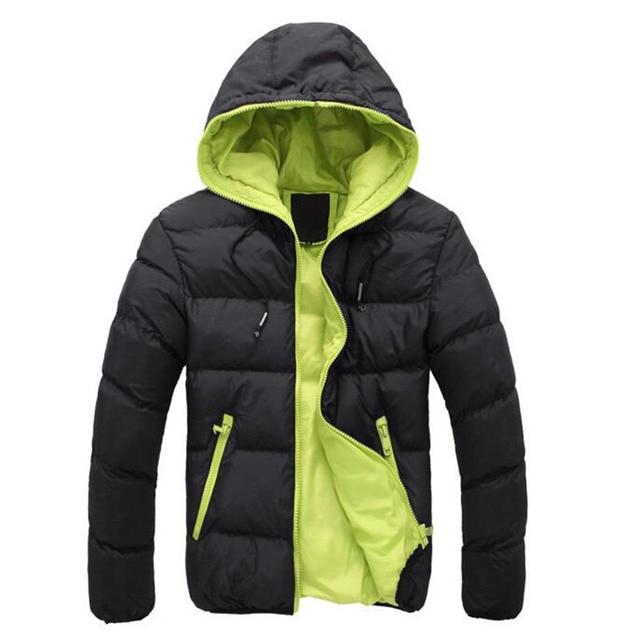 Inverno quente Acolchoado Jacekt Homens Marca Para Baixo Collar Casual Casaco Quente Outerwear Parka Jaqueta Tamanho Para Baixo Homens Jaqueta