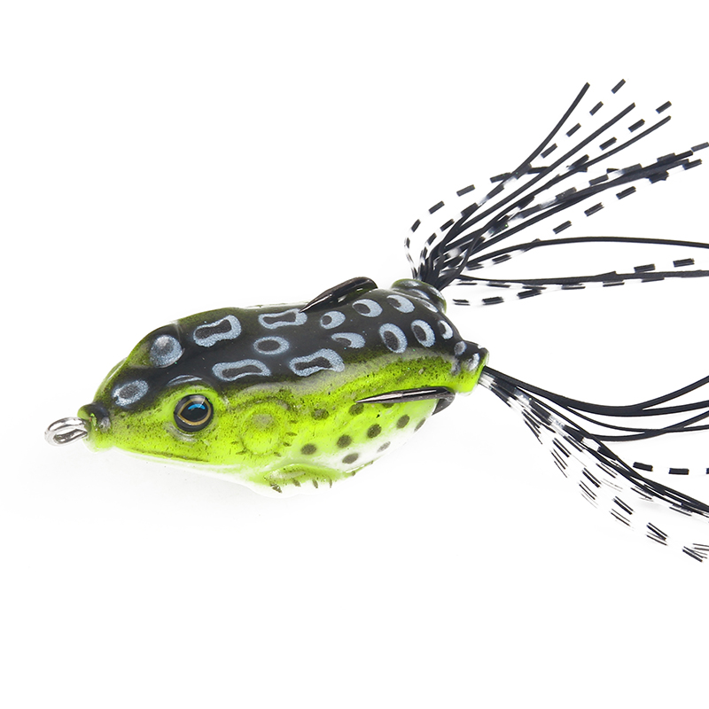 3D Eyes Artificial Frog water Fishing Lure Snakehead Tackle Pesca Hard Bass Bait