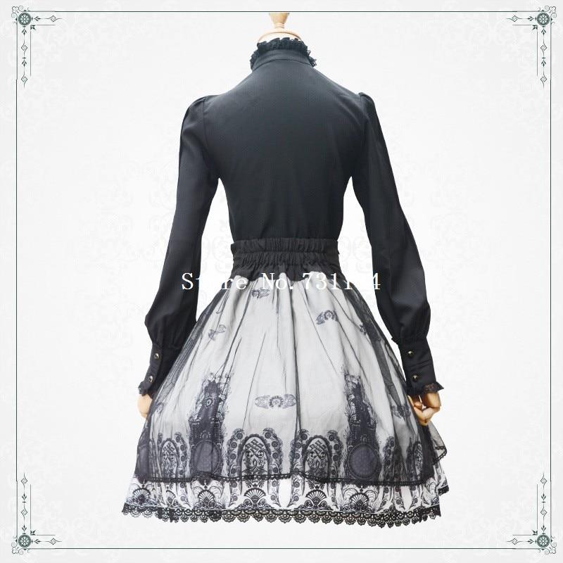 Vendaje La Lolita Cruz Clásico Alta Negro Calidad Encaje Más Impreso Y Vendimia Punk De Gothic Iglesia Falda Nuevo zfq4g
