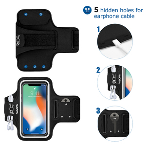 Image 4 - Mpow Sport Gym Armband Case For iPhone X Adjustable Running Arm Band On Hand Smartphone Cell Phones Hand Bag For iPhone Case
