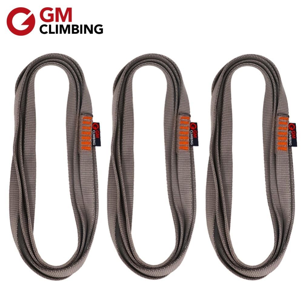 3pcs Climbing Sling 22kN Nylon Bearing Strap Reinforce Rope Belt CE / UIAA 30cm / 60cm / 120cm Arborist Rappelling
