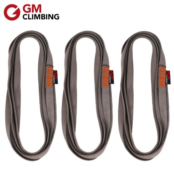 3pcs Climbing Sling 22kN Nylon Bearing Strap Reinforce Rope Belt CE / UIAA 30cm / 60cm / 120cm Arborist Rappelling mool heng shuo rock climbing safety harness belt tree carving arborist rappelling fall arrest