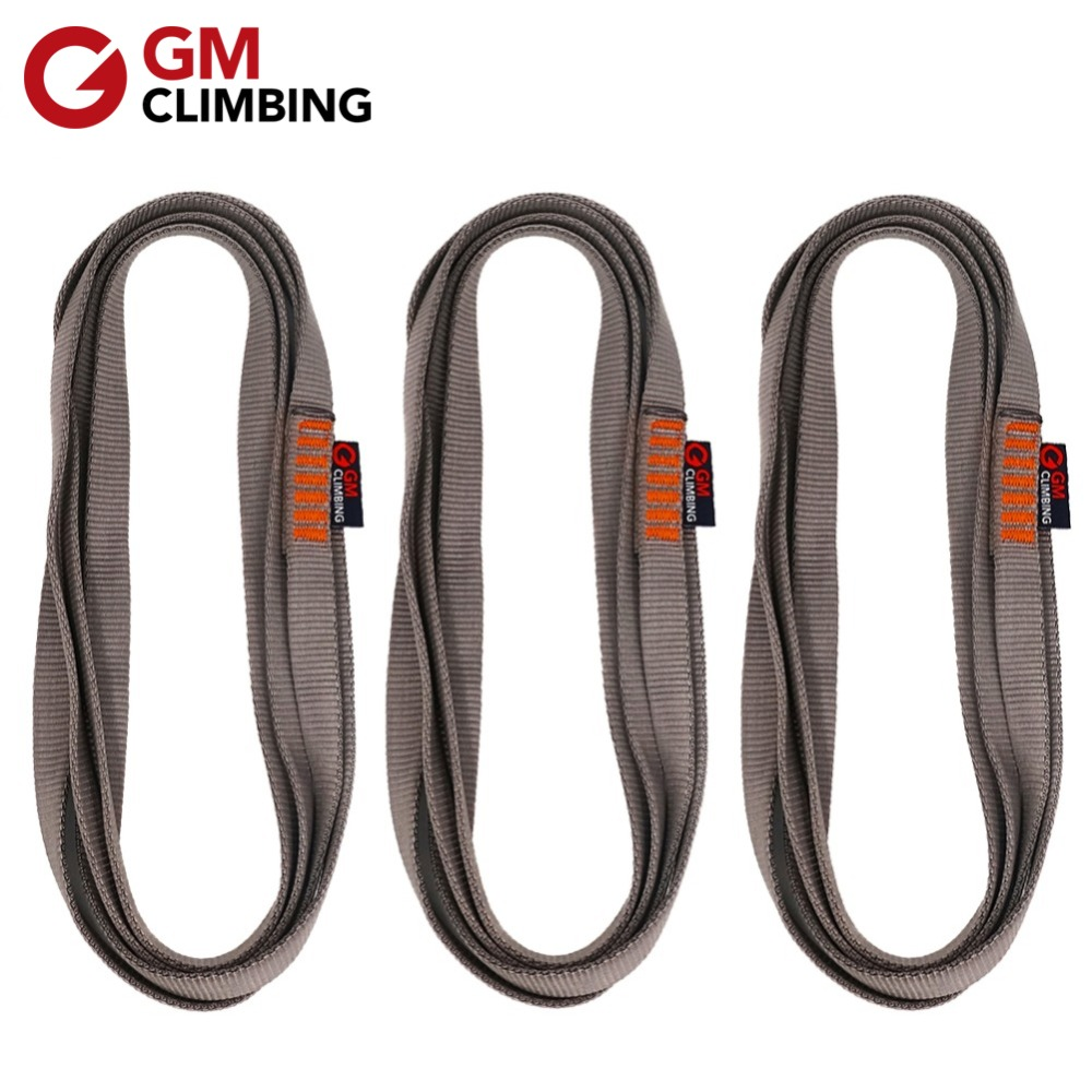 Outdoor Rock Climbing Equipment Nylon Sling Belt Webbing Loop Strap 60-220cm US