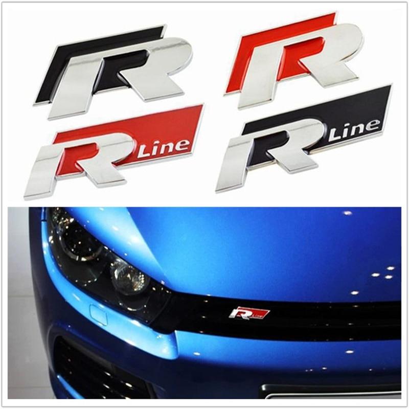 3D сплава линии R и удобные значок автомобиля стайлинга автомобилей для Volkswagen VW Поло Гольф 6 5 7 Джетта МК5 МК6 поло Пассат В5 В6 В7 аксессуары