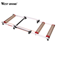 WEST BIKING Bicycle Trainers Folding Cycling Training Station Road MTB Bike Exercise Fitness Rollers Alloy Bicycle Trainer Tools