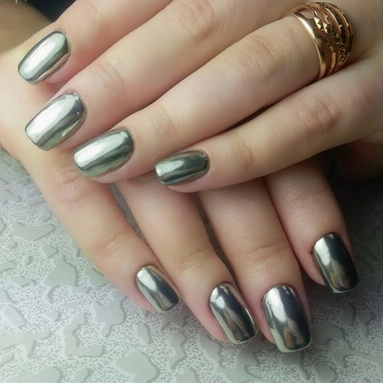 2 Box Mirror Powder Metallic Silver Pigment Nail Glitter Art Chrome Gold Magic Look Grant Nails In From Beauty Health On