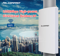 Comfast 1300Mbps Dual Band 5Ghz High Power Outdoor AP Gigabit Wan/LAN RJ45 Directional Antenna Access Point Wifi Base Station AP