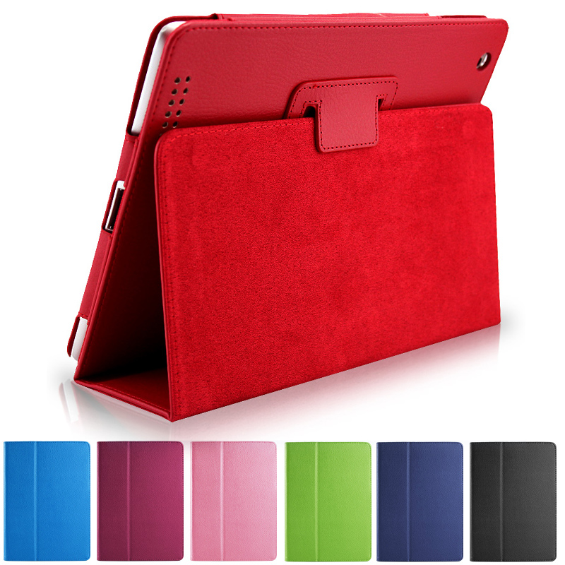 Business Flip Litchi Leather Case For ipad2/3/4 Smart Stand Holder For Apple ipad 2 3 4 Magnetic Auto Wake Up Sleep Cover 2016 for ipad 2 3 4 smart stand holder case auto sleep wake up flip litchi pu leather cover promotion cheap