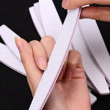 5 unids/set herramienta de Arte de uñas tope de lijado bloque manicura pedicura pulidor herramientas de belleza limas de uñas profesionales bote gris
