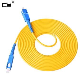 1M 3M 5M 10M 20M 30M SC to SC Fiber Patch Cord Jumper Cable SM Simplex Single Mode Optic for Network CS-CS 10TF 16FT 33FT 1