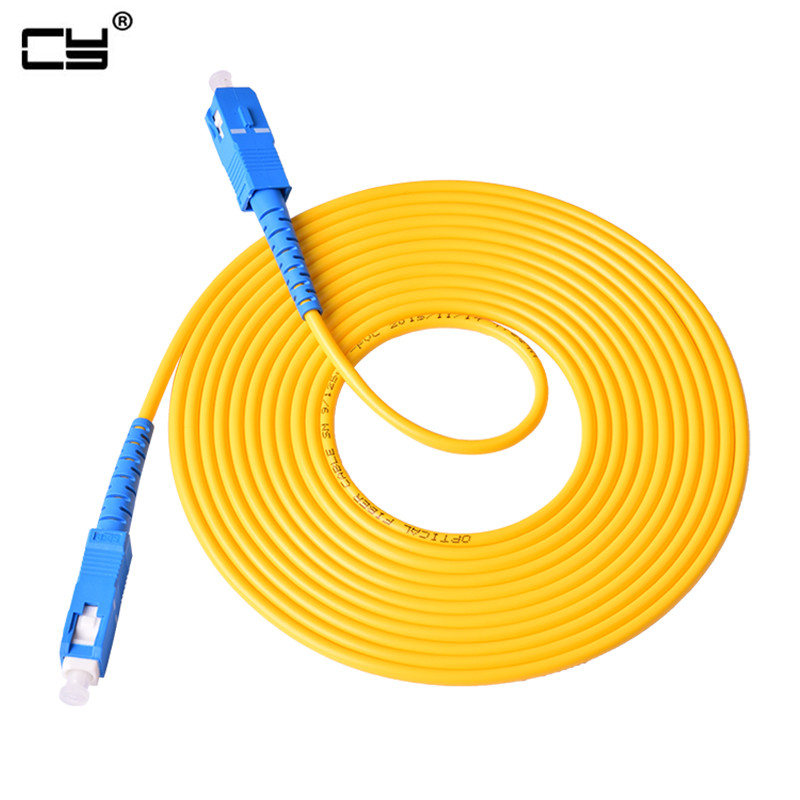 1m 3m 5m 10m 20m 30m Sc To Sc Fiber Patch Cord Jumper Cable Sm Simplex Single Mode Optic For Network Cs-cs 10tf 16ft 33ft Attractive Appearance