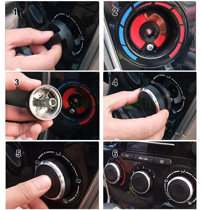4PCS/LOT Auto <font><b>Air</b></font> <font><b>Conditioning</b></font> a/c Heat Control Switch Knob AC Knob For Ford Focus 2 MK2 Focus 3 MK3 Mondeo Car