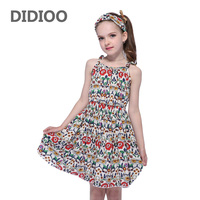 Children Bohemian Dresses For Girls Suspenders Floral Beach Dress Cotton Casual Girls Dresses Summer Holiday Clothes