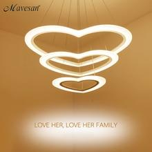 Moderne LED Pendelleuchten Wohnzimmer Esszimmer Suspension Leuchte Suspendu Herz Ring Beleuchtung Lampe De Techo Colgant