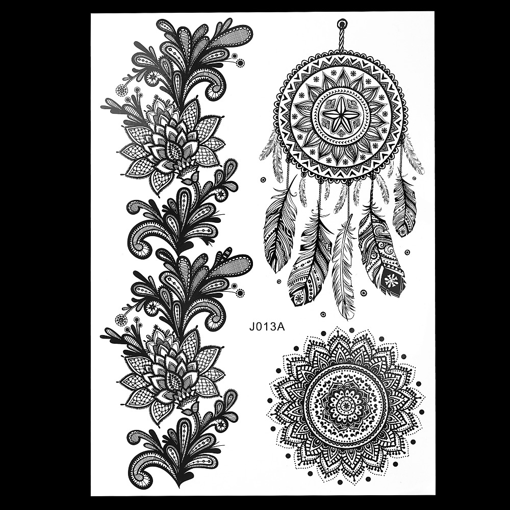 Online buy wholesale temporary tattoo stencil from china for Henna temporary tattoo stencils