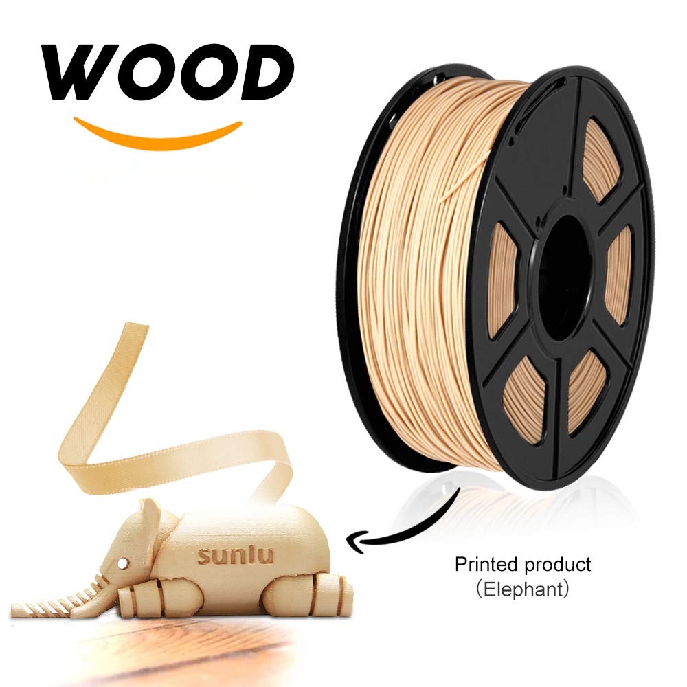 1 75mm 1kg PLA and WOOD filament PLA sunlu new with no bubble eco friendly polycarbonate