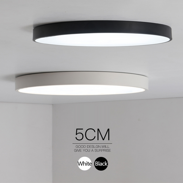 Minimalist Black/White art modern led ceiling lights for bedroom ...