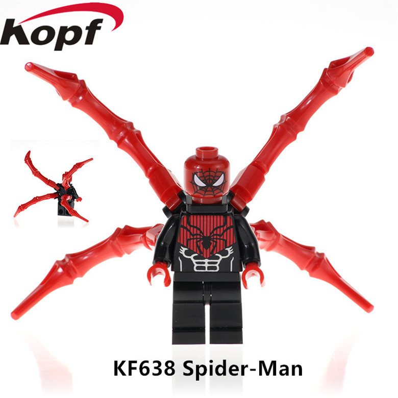 Capable Single Sale Wm370 Spiderman Ninja Deadpool Building Blocks Super Heroes Action Figures Children Gifts Toys Wm6011 Model Building
