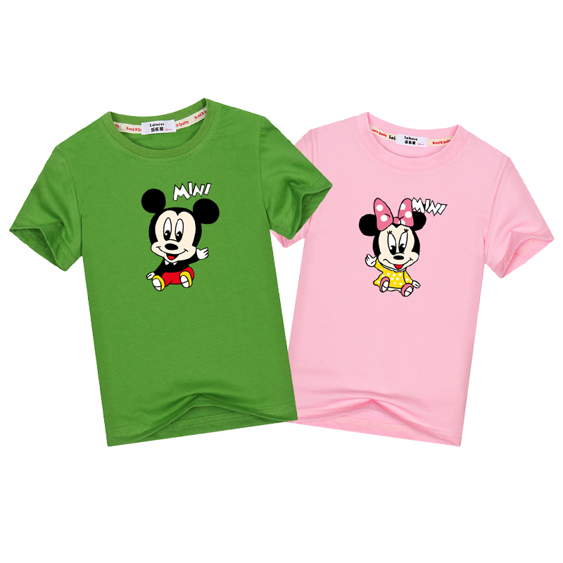 Mother & Kids 2019 New Family Fashion Cartoon Clothes Short-sleeve T-shirt Matching Family Clothing Outfits For Baby Boys Girls Bodysuit Tees