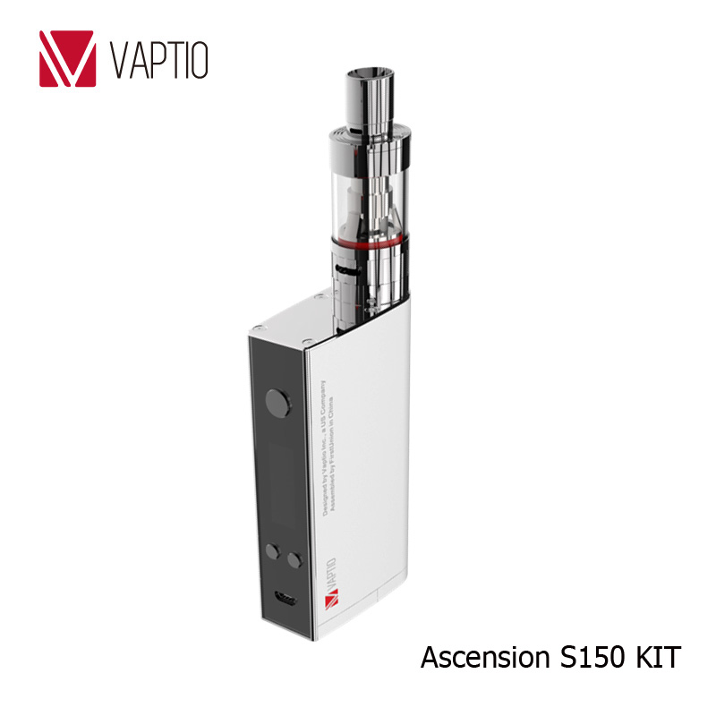 Original Vaptio S150 Electronic cigarette vape kit with 3.0ml Atomizer VW/VT-Ni/Ti/SS/ATC ecig 0.91 inch OLED Screen ATC