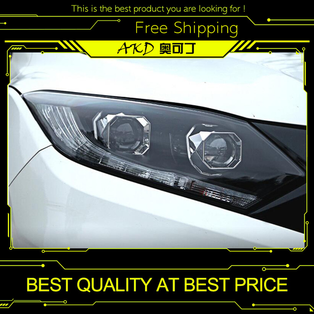Akd Car Styling For Honda Hrv Headlights For Vezel Hrv Led Head Lamp