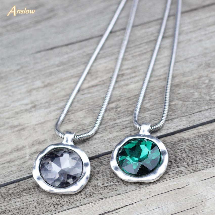 Anslow nowa spersonalizowana kreatywna biżuteria na zamówienie krótki naszyjnik dla kobiet kobieta naszyjnik wisiorek miłość przyjaciele prezent LOW0079AN