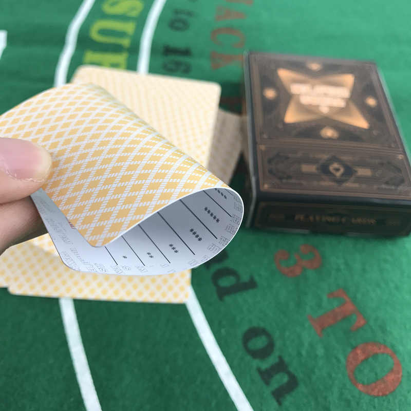 Yernea 4 مجموعات/وحدة بطاقات للعب لعبة تكساس بوكر بطاقات البلاستيك بطاقات للعب s متجمد سطح للماء الصقيع بوكر مجلس ألعاب