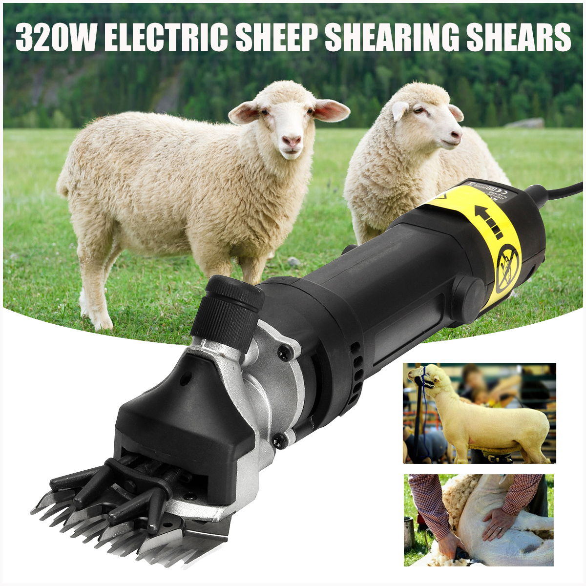 110V/220V 320W Electric Sheep Shearing Clipper Scissors Shears Cutter Goat Clipper Machines Wool scissor new 680w sheep wool clipper electric sheep goats shearing clipper shears 1 set 13 straight tooth blade comb