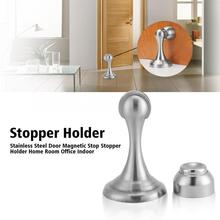 Automatic Magnetic Door Stopper Stainless Steel Wall Mounted Stop Holder Catch Suction