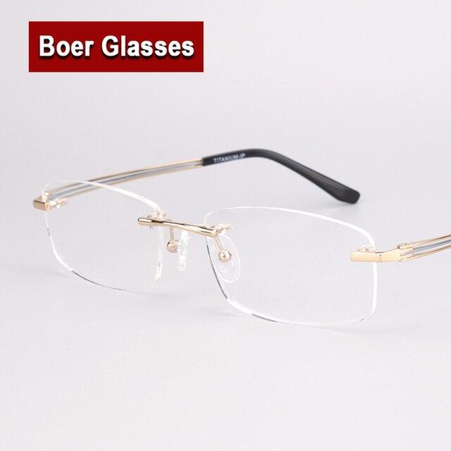 6ebb3e16d62f6b Nieuwe Pure Titanium Bril Bijziendheid Spektakel Optische Brillen Recept  Mannelijke Brillen Mannen Randloze Frames 9123