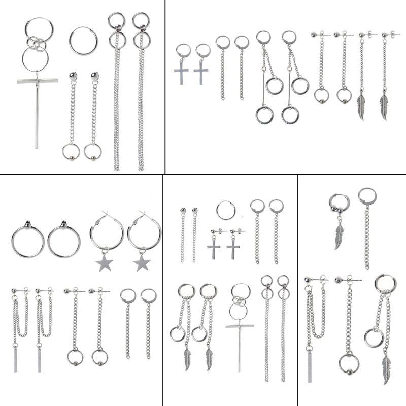 Korea Jewelry KPOP Bangtan Boy Punk Titanium Steel Tassel Chain Kit