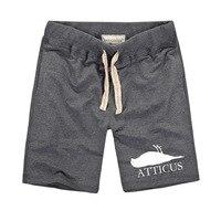 Harajuku Styles ATTICUS Dead Bird Logo Printed Creative Shorts Comfortable Running Shorts Men Casual Shorts Bermuda