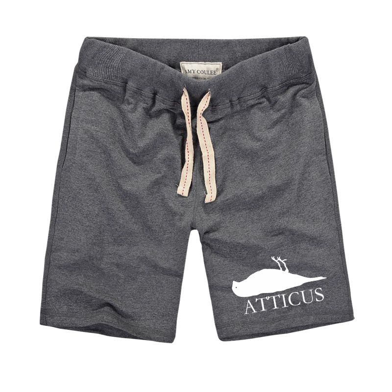 Harajuku tyylit ATTICUS Dead Bird Logo Painettu Creative Men Shortsit Mukavat shortsit Summer Men Casual Shortsit Bermuda Masculina