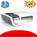 2016 HD DLP proyector con 2D a 3D convertidor HDMI USB Mini Beamer 720 P trabajo con ordenador portátil iPhone Android Tablet PC
