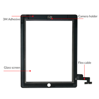 """replacement home button 9.7"""" Touch Screen For iPad 2 A1395 A1396 A1397 Touch Screen Replacement Digitizer Sensor Glass Panel For iPad2 NO Home Button (3)"""