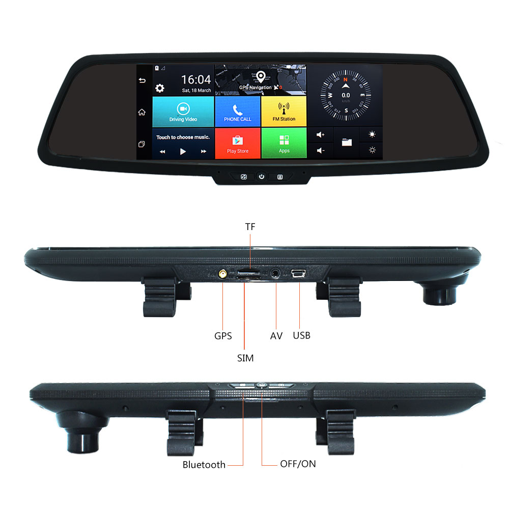 7 inch HD Car GPS Navigation FM Bluetooth AVIN Map Free Upgrade Navitel Europe Sat nav Truck gps navigators automobile
