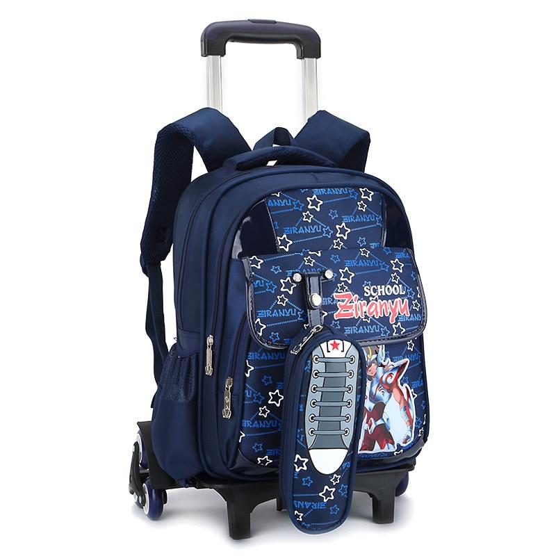 Children Trolley Women Backpack Wheeled School Bag For Girls Men Wheel  Schoolbag Student Backpacks Climb Stairs 545775dddc