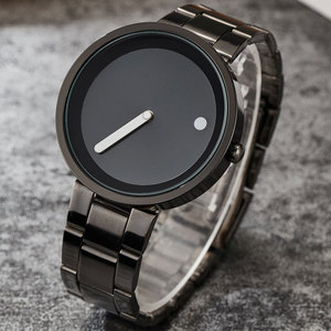 Image 3 - Creative Simple Dot Line Watch Men Unique Cool Male Clock Steel Wrist Watch Simple Fashion Quartz Watch Gifts relogio masculino