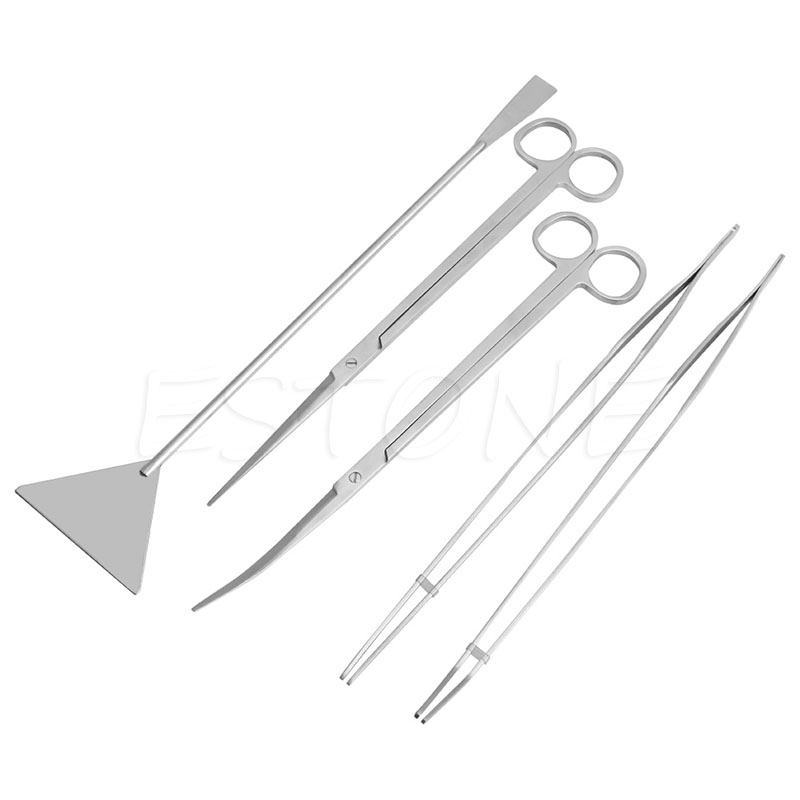 Pet Supplies Confident Water Grass Cylinder Trimming Cleaning Tool Stainless Tweezers Three-piece Set A Wide Selection Of Colours And Designs Fish & Aquariums