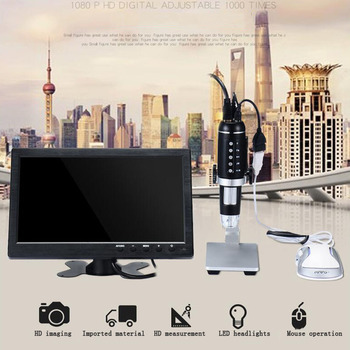 5MP USB Digital Microscope 1000X Electronic Measurement Microscope Endoscope Zoom Camera Magnifier With Stand 8 LED Microscope