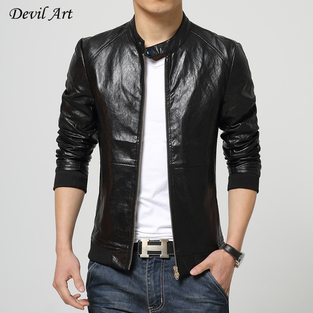 2017 New Arrivals Winter Autumn Brand 100% PU Leather Jacket Men Motorcycle Leather Jackets Overcoat Jaqueta High Quality