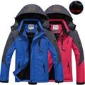 Hombres de la chaqueta de las mujeres capa Térmica de Invierno para los hombres jaqueta fahsion parejas chaquetas de Terciopelo Chaqueta masculina prendas de vestir exteriores Impermeable A Prueba de Viento