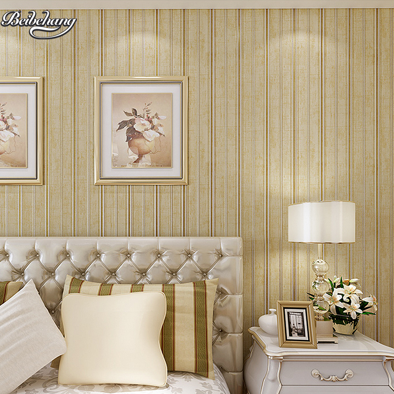 beibehang Green non - woven thick three - dimensional flocking wallpaper retro simple modern striped bedroom wallpaperbeibehang Green non - woven thick three - dimensional flocking wallpaper retro simple modern striped bedroom wallpaper