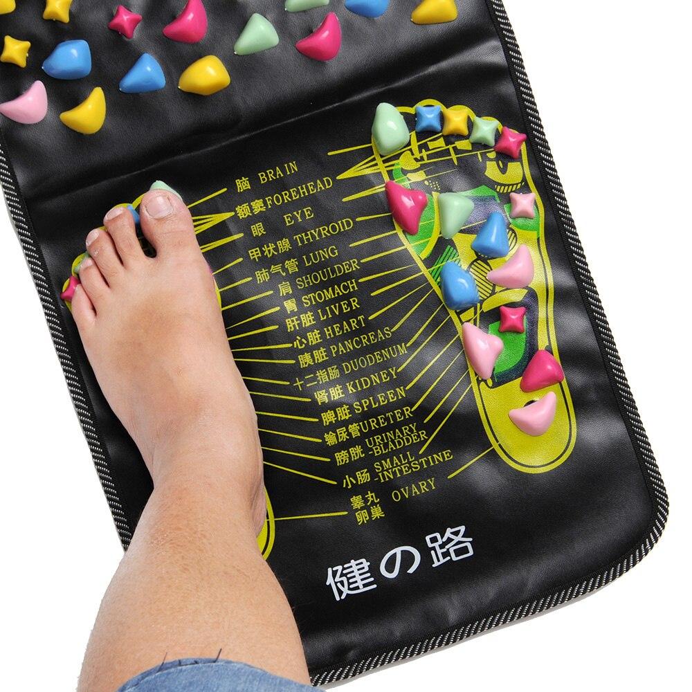1Pc Foot Massage Stone Health monitors Reflexology Walk Stone Foot Pain Relieve Massager Health Feet Care 70*35cm