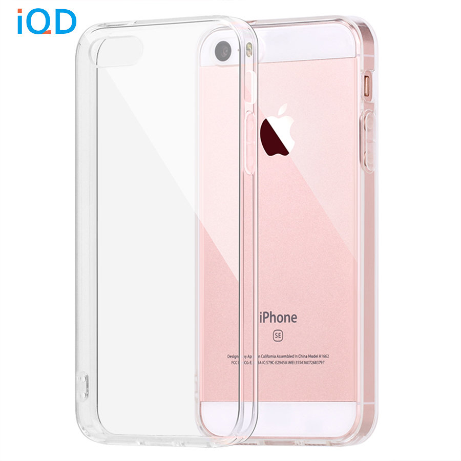 IQD para Apple iPhone SE Funda Bumper Cover Amortiguador de absorción de impactos y Anti-Scratch Clear Back para iPhone 5 5S SE Cases