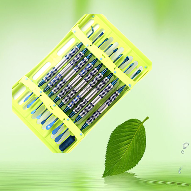 2019 good quality 9Pcs lot Dental implant flap Periosteum separator Periosteal exfoliator Color Coated dentist tools