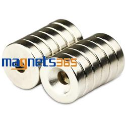 10 قطع صغيرة جولة ندفيب أقراص ممغنطة من معدن النيوديميوم 15 ملليمتر x 4 ملليمتر حفرة 4.2 ملليمتر N50 سوبر قوية طين نادر قوي ندفيب المغناطيس