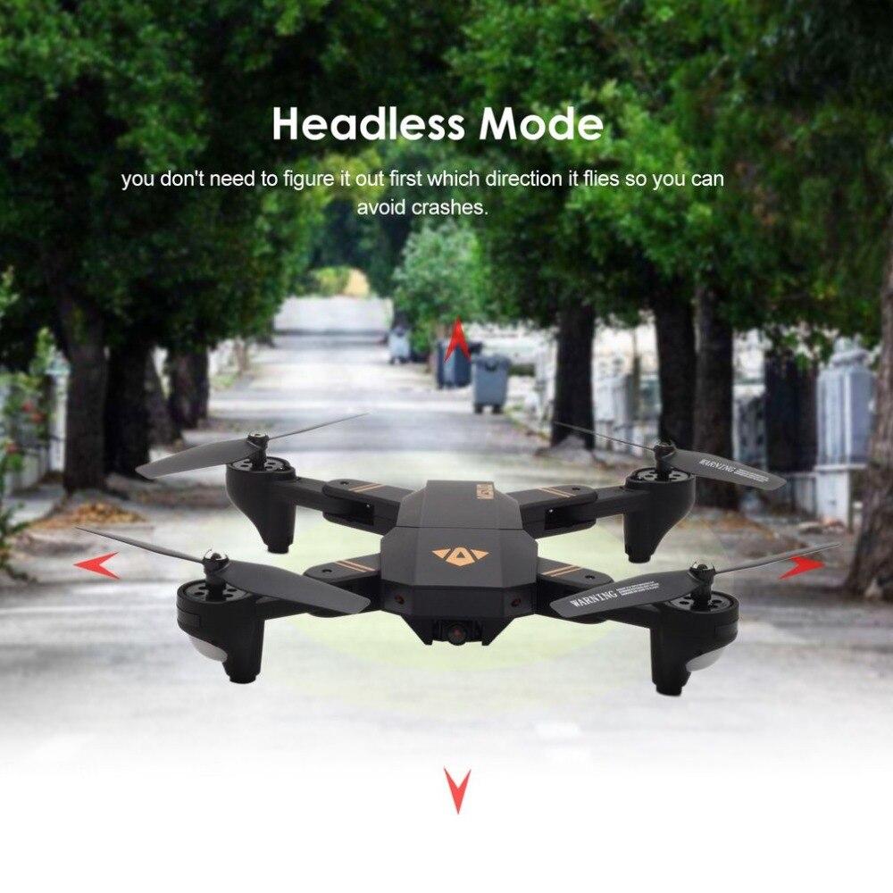 VISUO XS809HW 2.4G pliable FPV Selfie Drone RC quadrirotor avec caméra grand Angle 720P maintien d'altitude avec deux Batteries