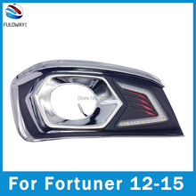 For Toyota Fortuner 2012 LED Daytime Running Light DRL Super Brightness Waterproof Fog Cover DC 12V External Lights car-styling