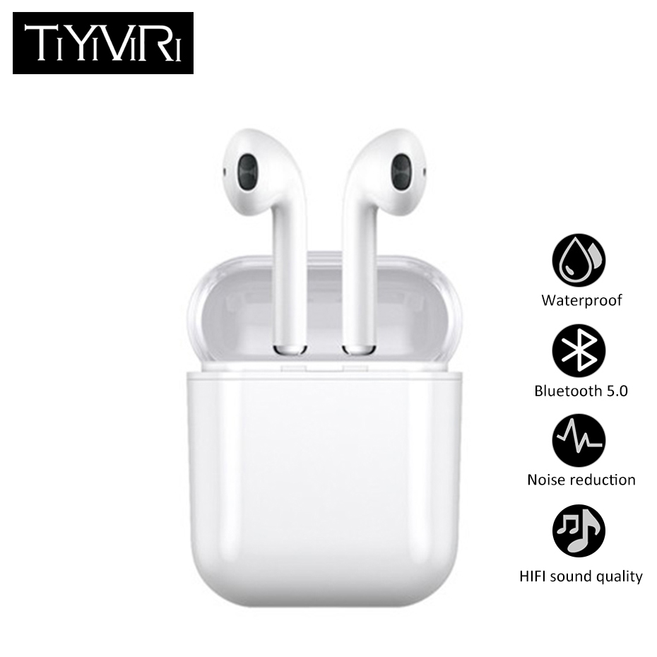 F10S TWS Mini Wireless Earphone Bluetooth 5.0 Sport Bass Waterproof Ipx5 With Mic Earphones Headphones For Android IOS Phone 2018 new mini tws wireless bluetooth5 0 ipx5 waterproof and sweat proof sports earphone with led charger box for mobile phone